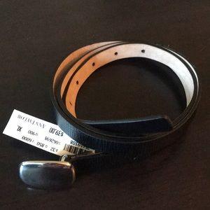 Genuine Leather XL Ann Taylor Black Belt